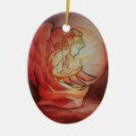 Ángel del alcohol adorno navideño ovalado de cerámica