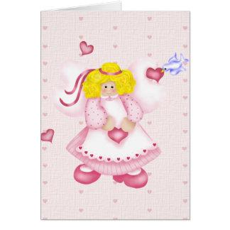 Ángel del amor tarjeta de felicitación