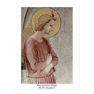 Ángel del anuncio por Fra Angelico Tarjeta Postal