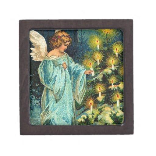 Ángel del árbol de navidad cajas de regalo de calidad