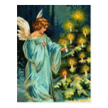 Ángel del árbol de navidad tarjeta postal
