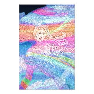 Ángel del arco iris papeleria de diseño