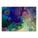 Ángel del baile tarjeta de felicitación