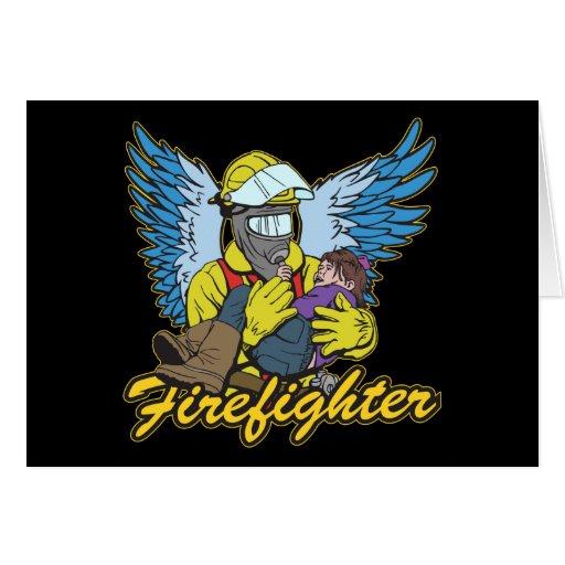 Ángel del bombero felicitacion