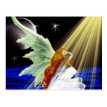 Ángel del brillo postal