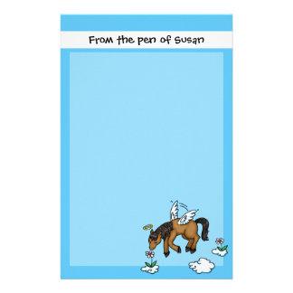 Ángel del caballo papelería personalizada