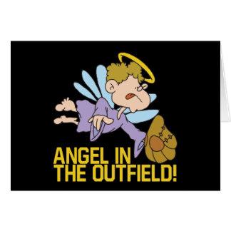 Ángel del campo abierto tarjeta de felicitación