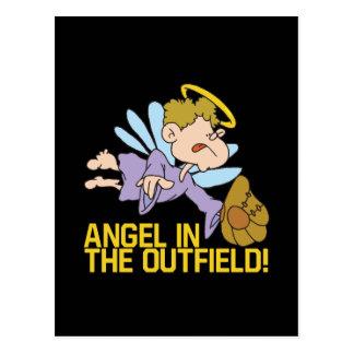 Ángel del campo abierto tarjeta postal