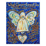 Ángel del cáncer del azul y del oro posters