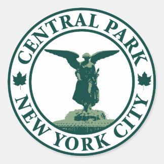 Ángel del Central Park Pegatina Redonda