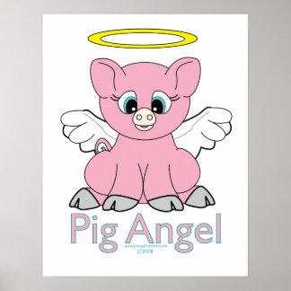 Ángel del cerdo póster