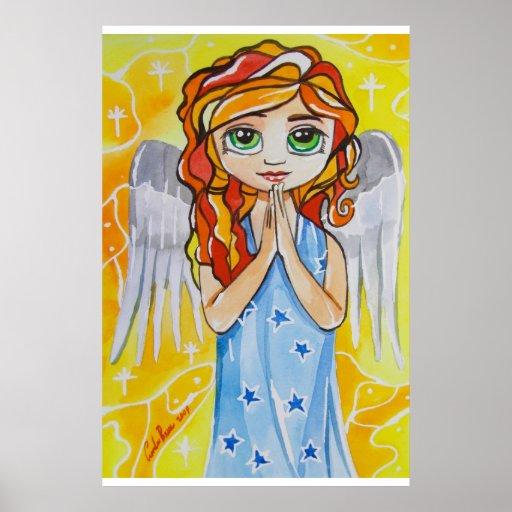 Ángel del chica lindo de la virtud que pinta a Gor Póster