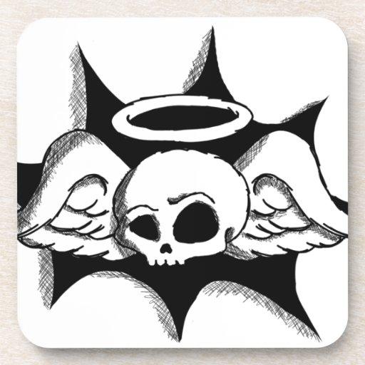 Ángel del cráneo posavaso