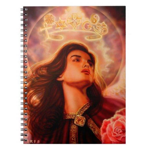 Ángel del cuaderno del diálogo por el iris de Lisa