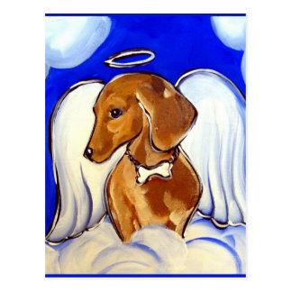 ángel del dachshund postales