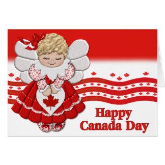 Ángel del día de Canadá Tarjeta De Felicitación