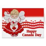 Ángel del día de Canadá Tarjetas