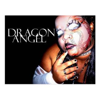 Ángel del dragón tarjeta postal
