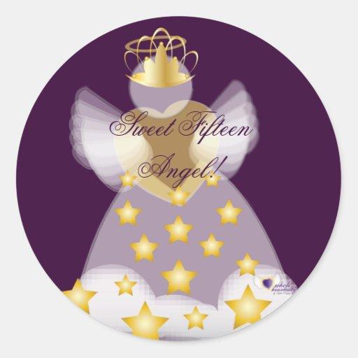 ¡Ángel del dulce quince! Pegatina-Personalizar