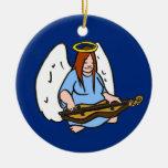 Ángel del Dulcimer Ornamento De Navidad