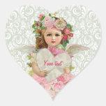 Ángel del el día de San Valentín Calcomanías Corazones