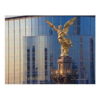 Ángel del EL y monumento y oficinas de la independ Postales