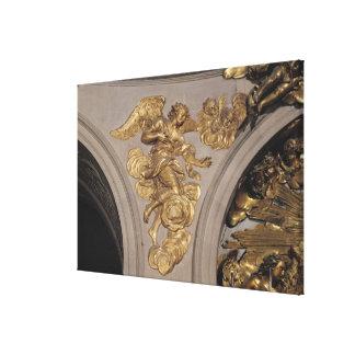 Ángel del estilo de Louis XIV, del arco Lienzo Envuelto Para Galerias
