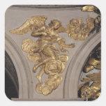 Ángel del estilo de Louis XIV, del arco Calcomanías Cuadradas Personalizadas