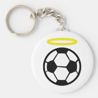 ángel del fútbol llavero redondo tipo pin