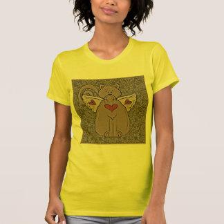 Ángel del gato de Folkart en la camiseta de la par