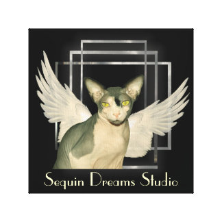 Ángel del gato de la lona el | Sphynx Lienzo Envuelto Para Galerías