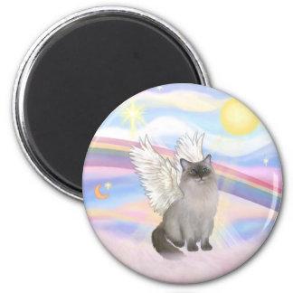 Ángel del gato de Ragdoll (punto azul) - nubes Imán De Nevera