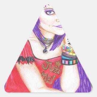 Ángel del Grunge Calcomanía De Triangulo Personalizadas