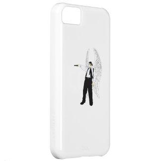 Ángel del Hitman de dios con una pistola Funda Para iPhone 5C
