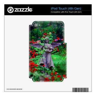Ángel del jardín skins para iPod touch 4G
