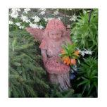 Ángel del jardín tejas  cerámicas