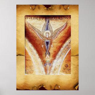 ÁNGEL del MOSAICO pergamino de Brown Posters