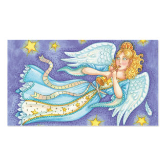 Ángel del músico del navidad del dibujo animado tarjetas de visita
