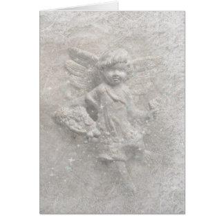 Ángel del navidad blanco tarjeta de felicitación