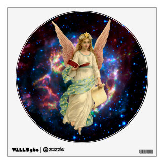 Ángel del navidad con las alas y el libro vinilo adhesivo