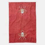 Ángel del navidad de la alegría - rojo toallas