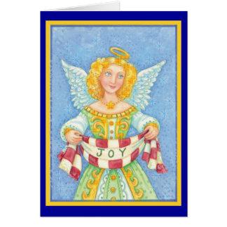 Ángel del navidad de la alegría tarjeta