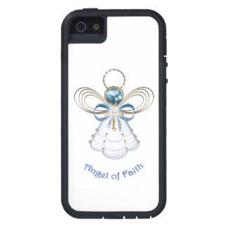Ángel del navidad de la fe iPhone 5 funda