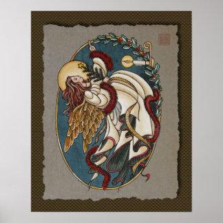 Ángel del navidad de la luz impresiones