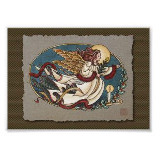Ángel del navidad de la luz arte con fotos
