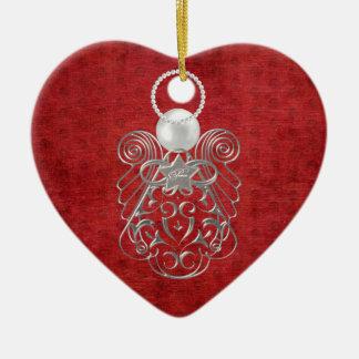 Ángel del navidad de la paz en felpilla adorno
