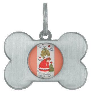 Ángel del navidad de los mediados de siglo del placas de mascota