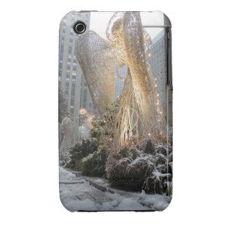 Ángel del navidad de NYC iPhone 3 Case-Mate Cárcasas