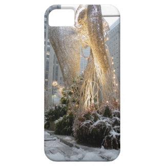 Ángel del navidad de NYC iPhone 5 Cárcasas