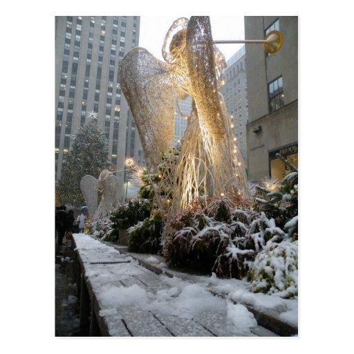 Ángel del navidad de NYC Postales